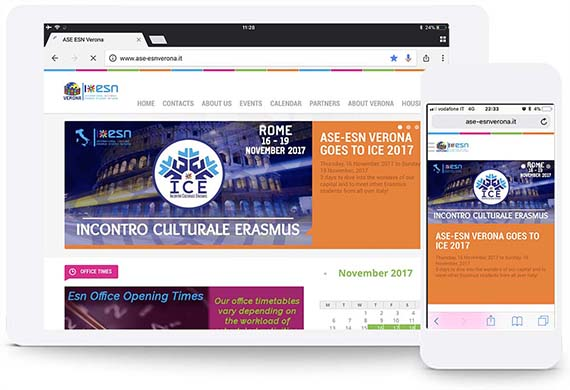 esn verona html website portfolio ghido production
