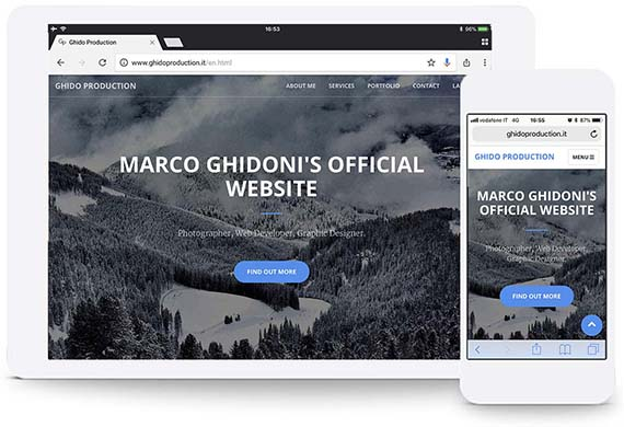 marco ghidoni website ghidoproduction.it