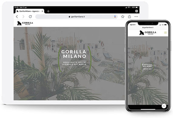 gorilla milano wordpress website portfolio ghido production