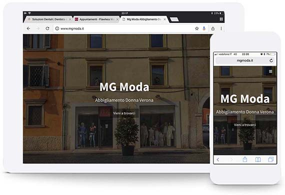 HTML website mg portfolio ghido production