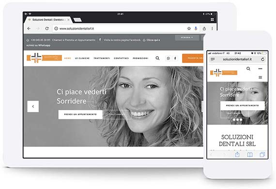 soluzioni dentali wordpress website portfolio ghido production