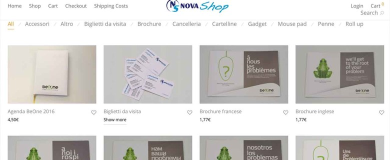Nova Shop Website