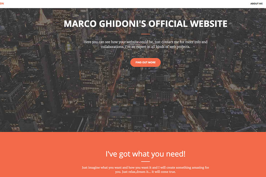 Marco Ghidoni's official website